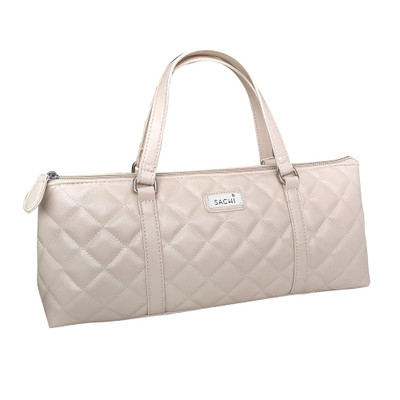 Sachi Insulated Wine Purse - Quilted Nude