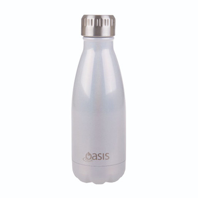 Oasis Insulated Stainless Steel Drink Bottle 350ml - Pearl Lustre