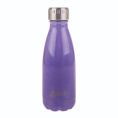 Oasis Insulated Stainless Steel Drink Bottle 350ml - Purple Lustre