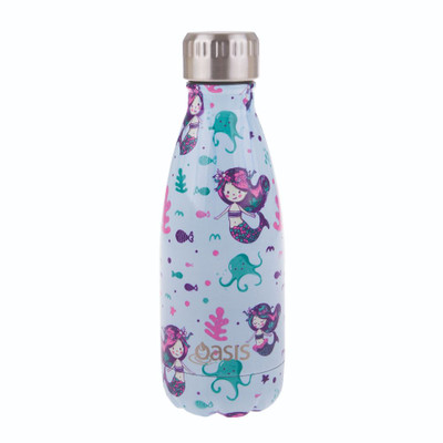 Oasis Insulated Stainless Steel Drink Bottle 350ml - Mermaids
