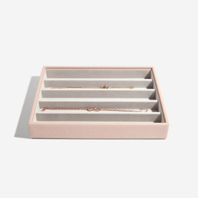 Stackers Classic Jewellery Box Tray 5 Compartment - Blush