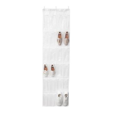 Howards Over-Door Hanging Shoe Holder 24 Pocket - Clear