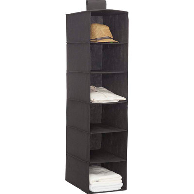 Howards 6 Shelf Garment Organiser - Black