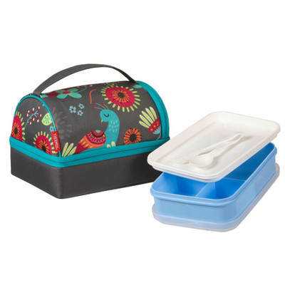 Thermos Pack-In Insulated Lunch Bag & Box - Peacock