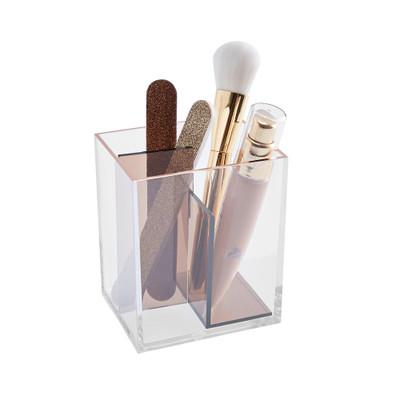 Signature Collection 3 Compartment Makeup Organiser - Bronze/Rose Gold