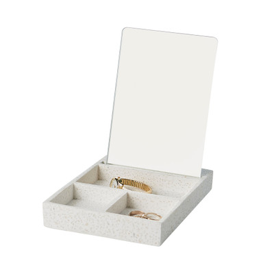 Howards Stone Look Jewellery Tray with Mirror