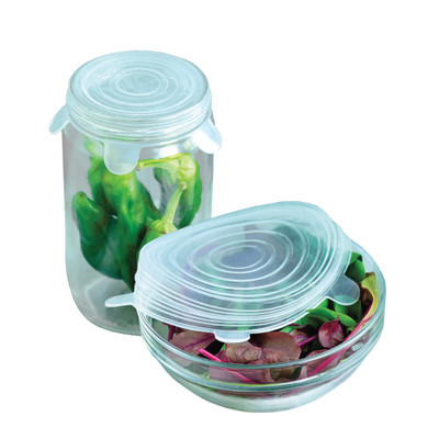 appetito Reusable Silicone Food Covers Set of 6