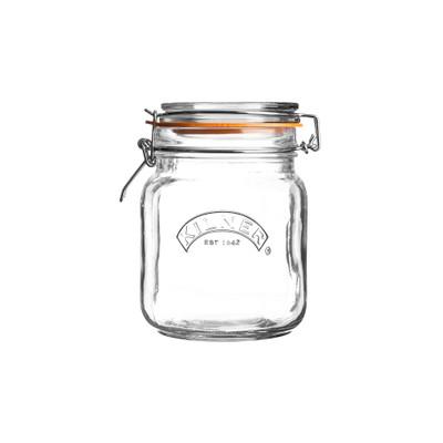 Kilner Square Clip Top Jar Glass - 1L