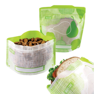 Russbe Reusable Snack & Sandwich Bags Set of 4 - Pear Linen