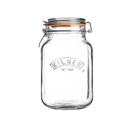 Kilner Square Clip Top Glass Jar - 1.5L