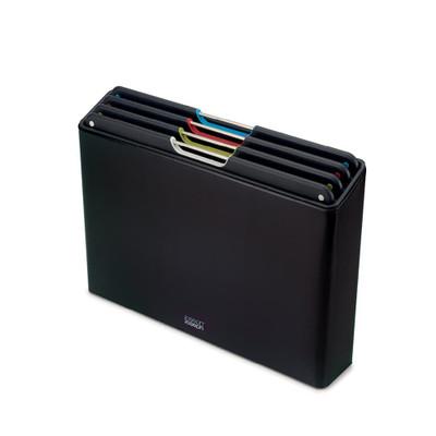 Joseph Joseph Stainless Steel Folio Chopping Board Set - Carbon Black