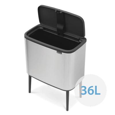 brabantia Bo Touch Bin Regular 36L, 1 Inner Bucket - Matt Steel Fingerprint Proof