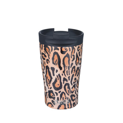 Oasis Stainless Steel Insulated Travel Cup 350ml - Leopard