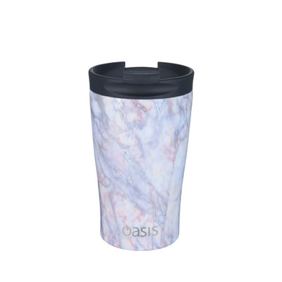 Oasis Stainless Steel Insulated Travel Cup 350ml - Silver Quartz