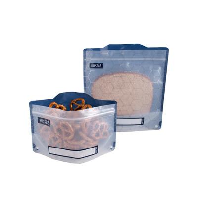 Russbe Reusable Snack & Sandwich Bags Set of 4 - Metallic Hexagrid