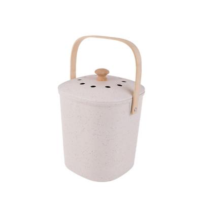 Appetito Bamboo 3.8L Compost Bin - White