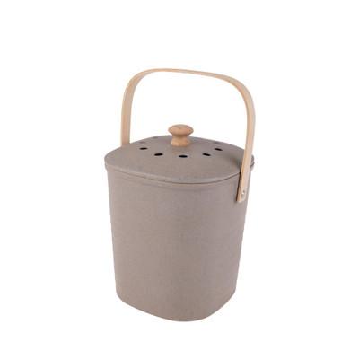 Appetito Bamboo 3.8L Compost Bin - Grey