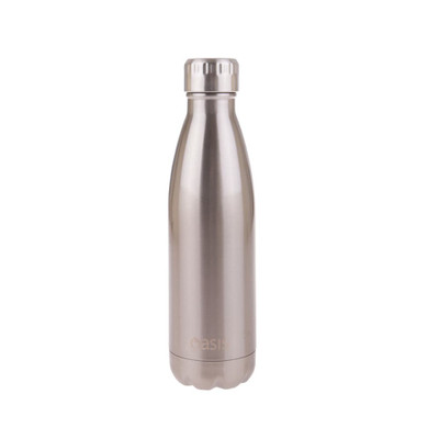 Oasis Insulated Stainless Steel Drink Bottle 500ml - Silver