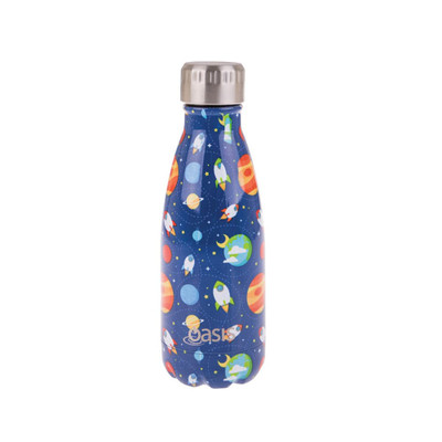 Oasis Insulated Stainless Steel Drink Bottle 350ml - Outer Space