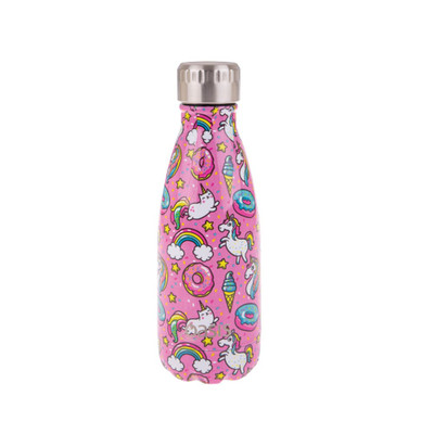 Oasis Insulated Stainless Steel Drink Bottle 350ml - Unicorns
