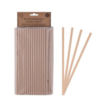 White Magic Eco Basics Biodegradable Paper Straws - 50 Pack