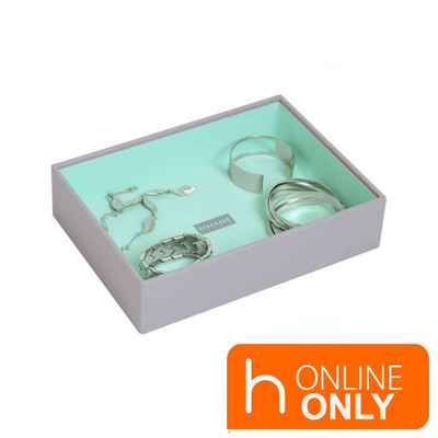 Stackers Classic Jewellery Box Tray 1 Compartment - Grey
