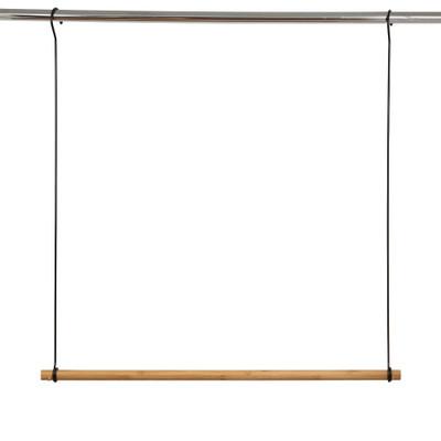 Wardrobe Double Hang Clothes Rail - Bamboo