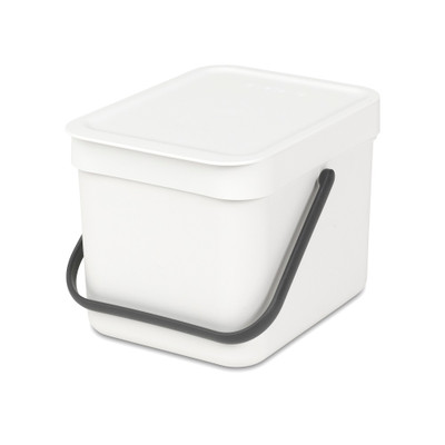 brabantia Sort & Go Waste Bin 6L - White