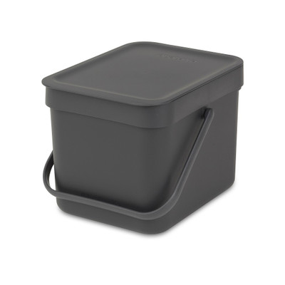 brabantia Sort & Go Waste Bin 6L - Grey