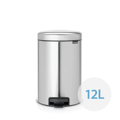 brabantia NewIcon Pedal Bin 12L Fingerprint Proof Matte Steel