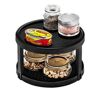 madesmart Twin Lazy Susan Turntable - Carbon