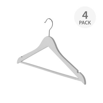 SHIRT/PANT SOFT GRIP HANGER 4 PACK WHITE