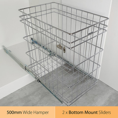 Tansel Pull Out Bottom Mount 72L Laundry Hamper for Internal Width Area +527mm
