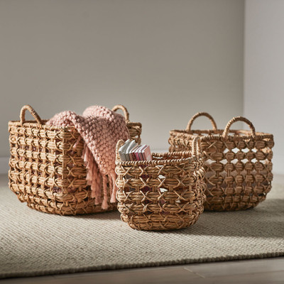 Howards Square Woven Storage Baskets - 3 Pack