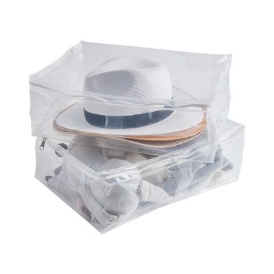 Howards Slim Medium Storage Bags 2 Pack - Clear