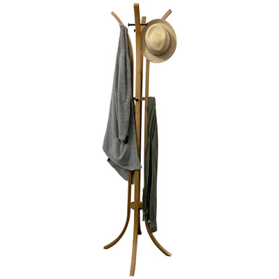 Bamboo 4 Post Coat Rack