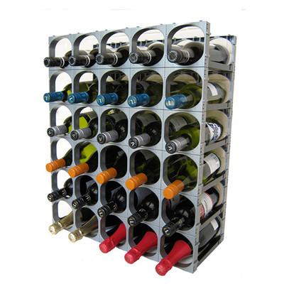 Cellarstak 30 Bottle Silver Wine Rack