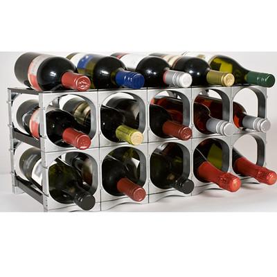 Cellarstak 12/15 Bottle Silver Wine Rack