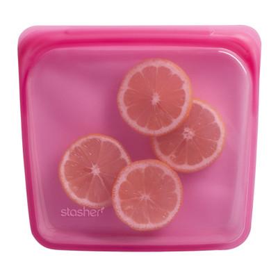 Stasher Silicone Sandwich Bag - Pink
