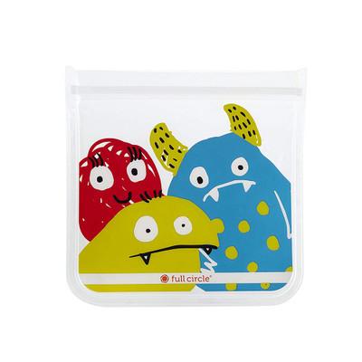 Full Circle Ziptuck Reusable Lunch & Snack Bag Set of 2 - Monsters