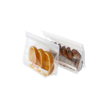 Full Circle Ziptuck Reusable Snack Bag Set of 2 400ml - Clear