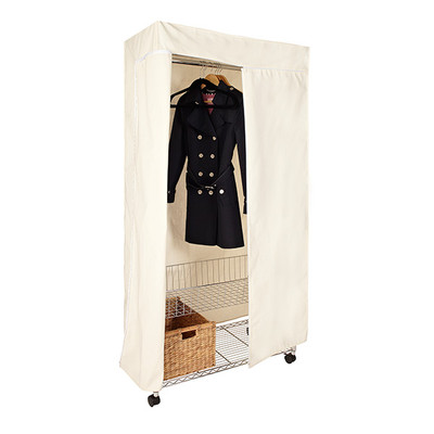 easy-build Wardrobe Kit With Canvas Cover