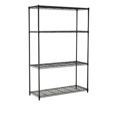 easy-build 4 Shelf Unit 180cm - Black