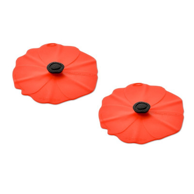 Drink Tin Covers Set of 2 - Poppy