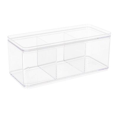 Howards Rectangular Stackable Organiser Deep - 3 Compartments