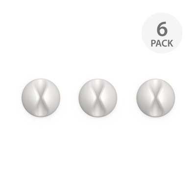 BlueLounge CableDrop 6 Pack - White