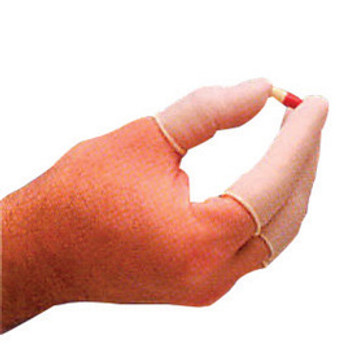 """North® by Honeywell Medium White 2 3/4"""" 3 mil Natural Rubber Powdered Finger Cots With Rolled Cuff (144 Each Per Box)"""