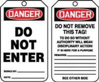 A81MDT187CTP Area Protection Lockout & Tagout Accuform Signs MDT187CTP