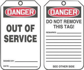 A81MDT246CTP Area Protection Safety Labels & Tags Accuform Signs MDT246CTP