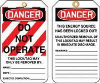 A81MLT400CTP Area Protection Lockout & Tagout Accuform Signs MLT400CTP